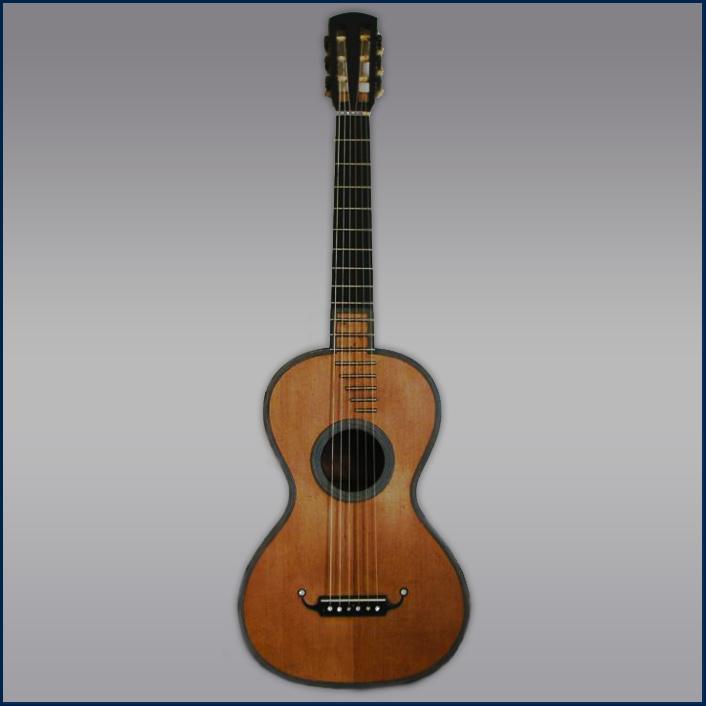 Nicolas Legros 1835 guitar front
